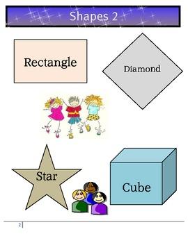 Math Shapes Pre K Lesson 2 - Rectangle, Diamond, Star, Cube - Fun!