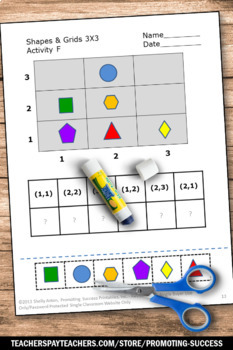 Graphing Ordered Pairs, Coordinate Graphing Pictures, Math Cut and Paste