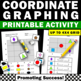 Graphing Cut and Paste Activities, Coordinate Grid Worksheets