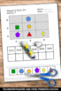 Shapes and Coordinate Grids Math Worksheets Graphing Activ