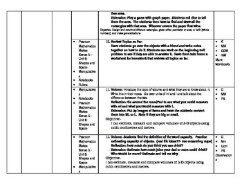 Math - Shapes and Space Unit Plan