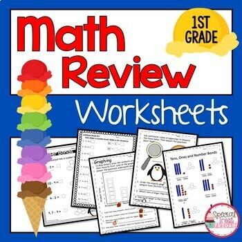 1st Grade Math Fluency Summer Packet