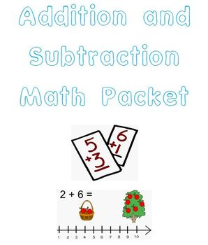Math Sheets-Addition & Subtraction Stories, 3 Addend Addition, Missing Addend