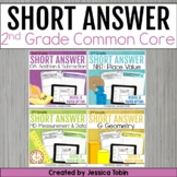 2nd Grade Math- Short Answer Word Problems Writing Bundle