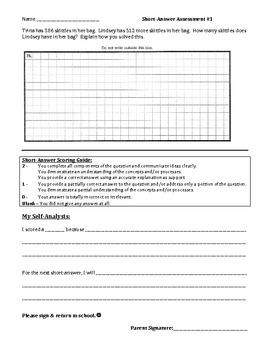 Math Short-Answer Assessment #1