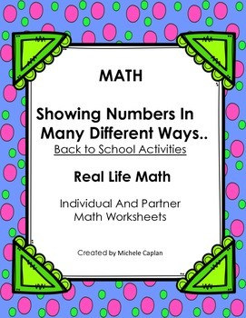 Math: Showing Numbers in Many Ways - Mental math and identifying numbers
