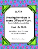Math: Showing Numbers in Many Ways - Mental math and ident