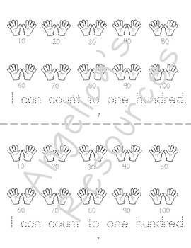 Counting & Cardinality :  I Can Count to 100.   I can count by tens.