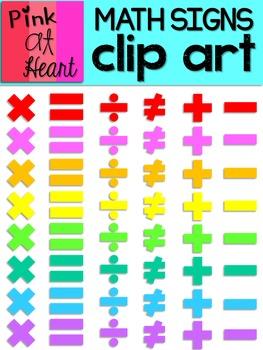 Math Signs Clip Art FREEBIE