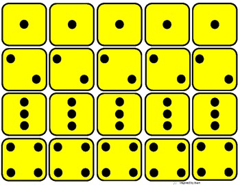 Math  Simple Addition 1-4 with Dots based off Dice for Autism