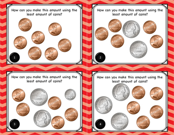 Math Simplifying Money Task Cards for Centers or Scoot