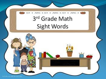 Math Sight Words
