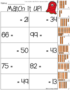 Math Skill Builder Sampler Freebie - Number Sense-Part Part Whole-Place Value