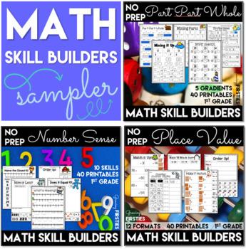 Math Skill Builder Sampler Freebie - Number Sense-Part Par