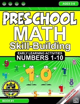 Math: Skill-Building - #1-10 Preschool Early Learning {NO PREP Worksheets}