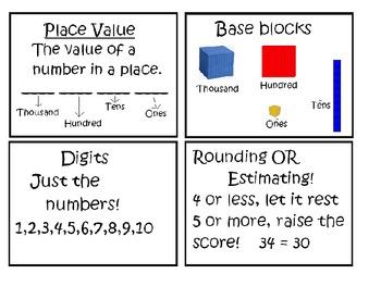 Math Skill Cards- Third Grade