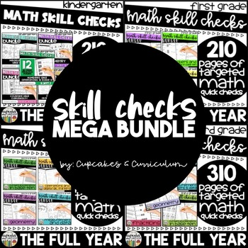 Math Skill Checks - Kindergarten, First, Second, Third Grade Math