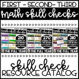 Math Skill Checks - First, Second, Third Grade - Resource Catalog