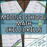 Math Skill Drills for Middle School