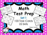 Math Skill Review:  25 Skills -- 100 Task Cards -- Set 1