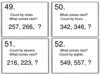 Math Skill Review:  25 Skills -- 100 Task Cards Set 2