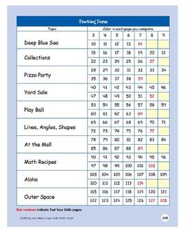 Math Skill Sharpeners Grade 6+ Tracking Form