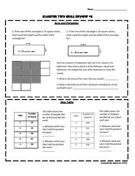 Math Skill Sheet #2
