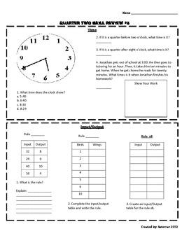 Math Skill Sheet #3
