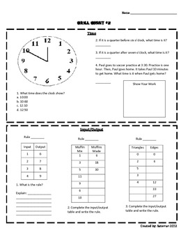 Math Skill Sheets (Complete Set 1)