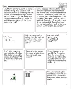 Math Skill Workbook - 2nd Grade: End of Year / 3rd Grade: Beginning of the Year