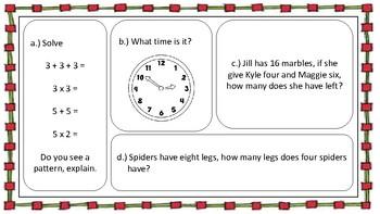 Math Skills Bell Ringer