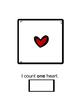 Math Skills: COUNTING (Valentine Hearts)
