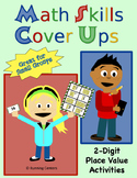 Math Skills Cover Ups - 2-digit Place Value Math Mat Games - Gr. 2