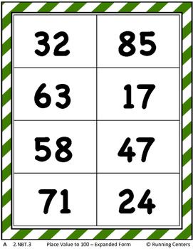 Math Skills Cover Ups - 2-digit Place Value Math Mat Games - Gr. 2