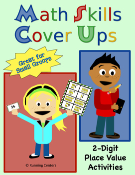 Math Skills Cover Ups - 2-digit Place Value Math Mat Games