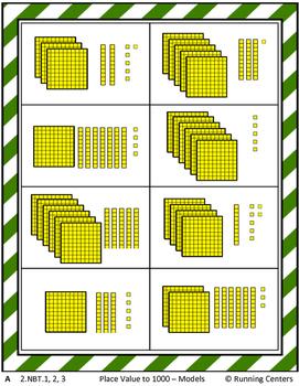 Math Skills Cover Ups - 3-digit Place Value Math Mat Games - Gr. 2