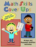 Math Skills Cover Ups Gr. 2 Arrays Math Mat Games - Arrays