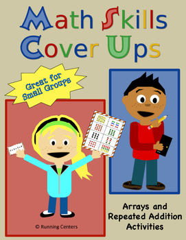 Math Skills Cover Ups Gr. 2 Arrays Math Mat Games - Arrays