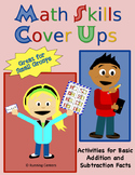 Math Skills Cover Ups - Gr. 2 Basic Facts Math Mat Games - Addition Subtraction
