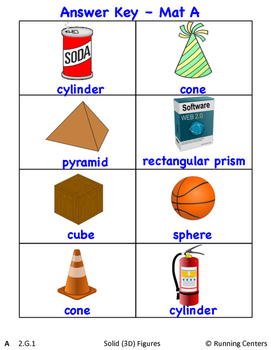 Math Skills Cover Ups - Gr. 2 Geometry Math Mat Games - Shapes and Fractions