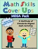 Math Skills Cover Ups MEGA Pack - Grade 2 Math Games for the Whole Year