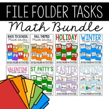 Math Skills File Folders BUNDLE