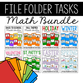 Math Skills File Folders BUNDLE