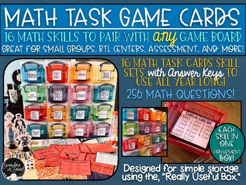 Math Skills Game Card Set-16 Skill Cards to Use with Any Board Game!