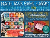 Math Skills Game Card Set-16 Skill Cards to Use with Any B