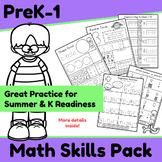 Math Skills Pack - PreK/K Skills for Summer Practice and Kindergarten Readiness