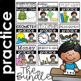 Math Skills Practice Pages Bundle for the Year First Grade