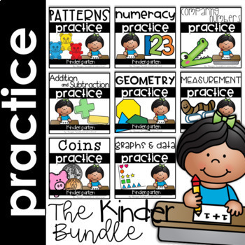 Math Skills Practice Pages Bundle for the Year Kindergarten