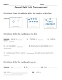 Math Skills Pre-Assessment for English Language Learners