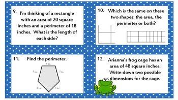 Math Skills Review: 36 Task Cards